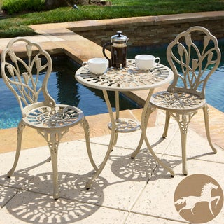 Christopher Knight Home Nassau Sand Bistro Set