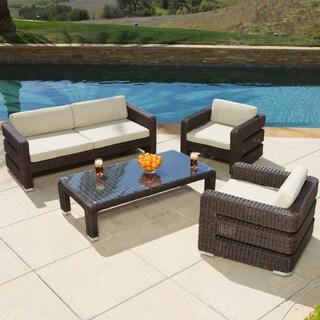 Christopher Knight Home Sonoma 4-piece Wicker Outdoor Sofa Set