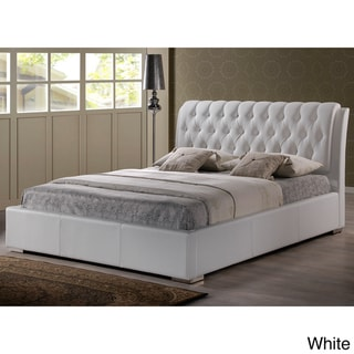 Baxton Studio Bianca White Modern Full-size Tufted Headboard/ Bed