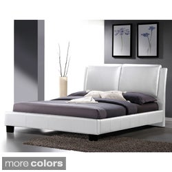 Baxton Studio Sabrina White Modern Full-sized Bed with Overstuffed Headboard