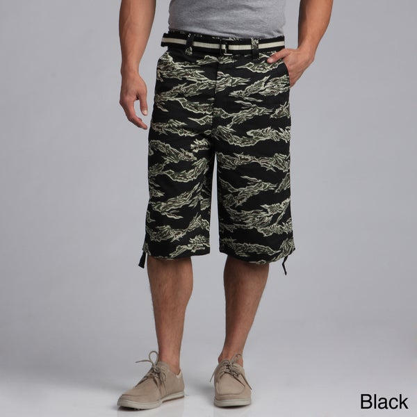 Raw Blue Men's Tiger Camo Cotton Short