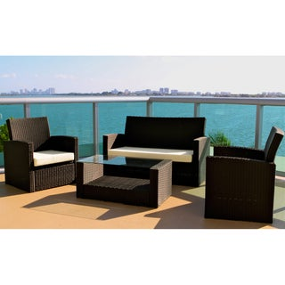 Cabo 4-piece Resin Wicker Outdoor Lounge Set