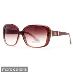 Anais Gvani Women's Classic Square Sunglasses with Logo Accent