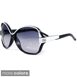Anais Gvani Women's Two-tone Chic Open Sunglasses