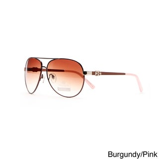 Anais Gvani Women's Classic Aviator Sunglasses with Logo Accent