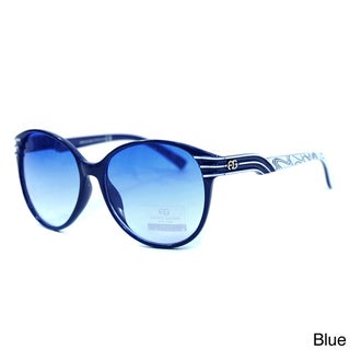 Anais Gvani Women's Round Stripe Sunglasses