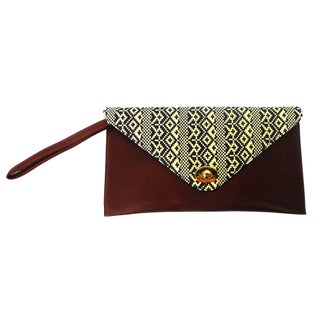 Claudia G. 'Zita' Tribal Flap Fabric Covered Clutch