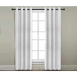 Grand Luxe Pearl All Linen Gotham Grommet Window Panel