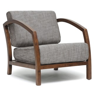 Baxton Studio Velda Brown Modern Accent Chair