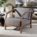 Baxton Studio Velda Brown and Gravel Modern Accent Chair