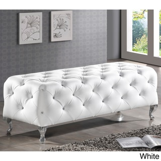 Baxton Studio Stella Crystal Tufted Modern Bench
