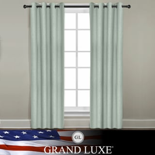 Veratex Grand Luxe Mineral All Linen Gotham Grommet Window Panel