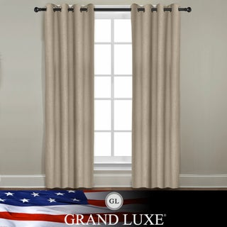 Grand Luxe Khaki  Linen Gotham Grommet Window Panel