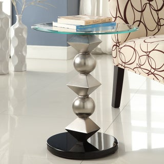TRIBECCA HOME Ryde Tempered Glass Top End Table