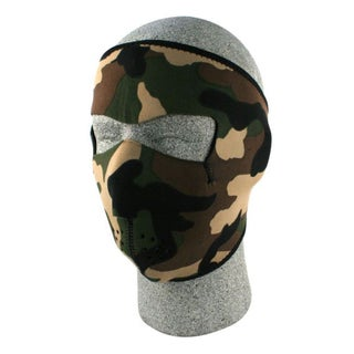 Zan Headgear Neoprene Woodland Camo Face Mask