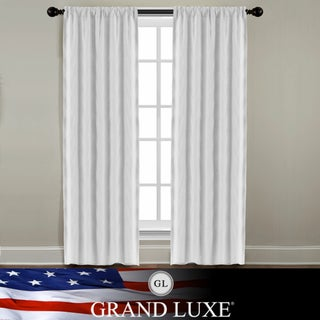Veratex Grand Luxe Pearl Linen Gotham Rod Pocket Panel
