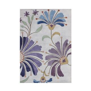 Alliyah Handmade Light Purple New Zealand Blend Wool Rug (4 x 6)