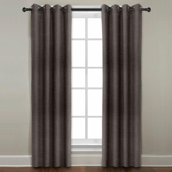 Grand Luxe Java All Linen Gotham Grommet Window Panel