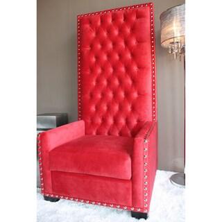 Decenni Custom Furniture 'Emperor' Red Tufted High-back Chair