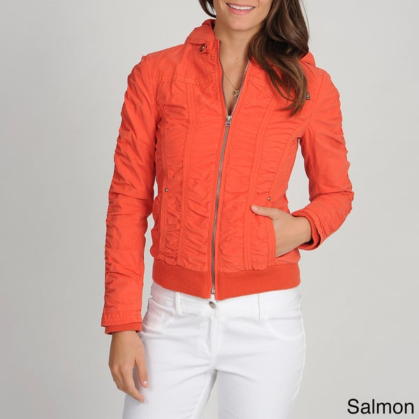 Buffalo Women's Ruched Hooded Jacket