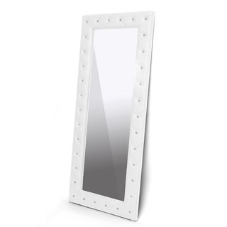 Stella Crystal Tufted Modern Floor Mirror