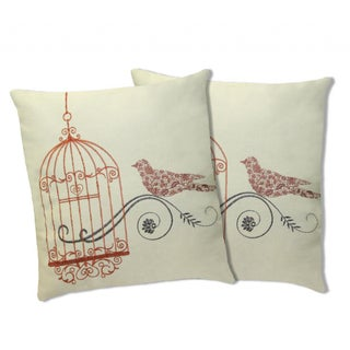 Lush Decor Dream Bird Coral Decorative Pillows (Set of 2)