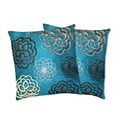 Lush Decor Covina Turquoise Decorative Pillows (Set of 2)