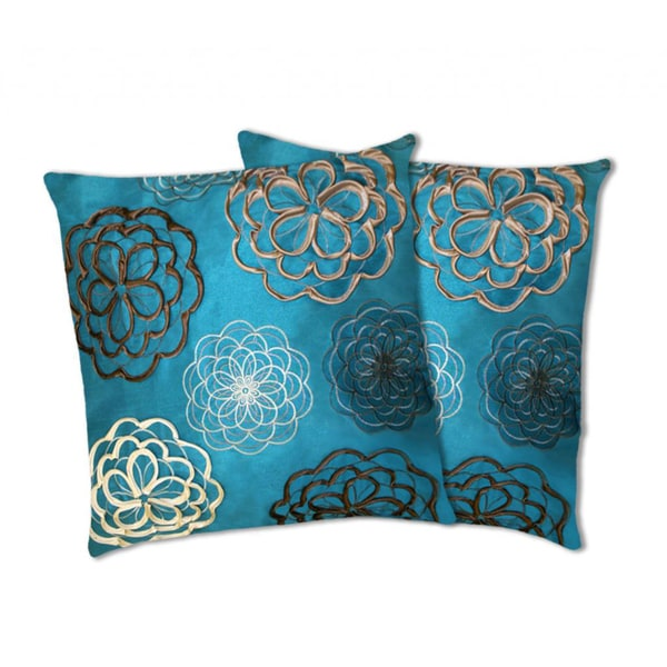 Lush Decor Covina Turquoise Decorative Pillows (Set of 2)