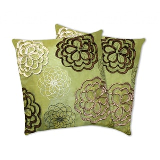 Lush Decor Covina Apple Green Decorative Pillows (Set of 2)