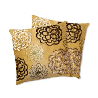 Lush Decor Covina Yellow Decorative Pillows (Set of 2)