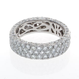18k White Gold 4 1/2ct TDW Diamond Pave Eternity Band (I-J, I1-I2)
