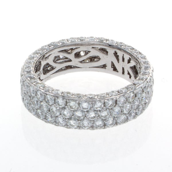 Victoria Kay 18k White Gold 4 1/2ct TDW Diamond Pave Eternity Band (I-J, I1-I2)