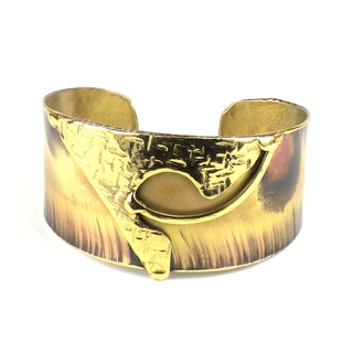 Handcrafted Muse Brass Cuff (South Africa)