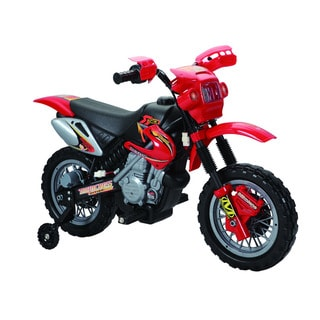 Happy Rider Red Ride-On Dirt Bike