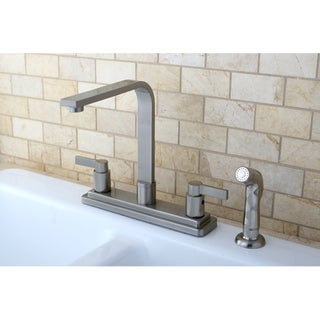 Euro Two-handle Satin Nickel Kitchen Faucet with Side Sprayer