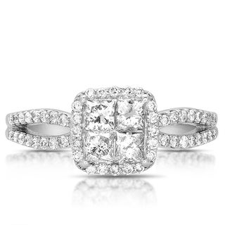 14k White Gold 7/8ct TDW Princess Diamond Engagement Ring (G-H, I1-I2)