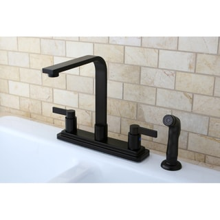 Euro Two-handle Oil Rubbed Bronze Kitchen Faucet with Side Sprayer