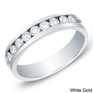 Auriya 14k Gold Men's 1ct TDW Diamond Band (H-I, SI1-SI2)