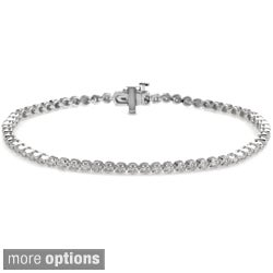 Auriya 14k Gold 1ct TDW Diamond Tennis Bracelet (J-K, I2-I3)