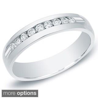 Auriya 14k White or Yellow Gold Men's 1/2ct TDW Diamond Ring (H-I, SI1-SI2)