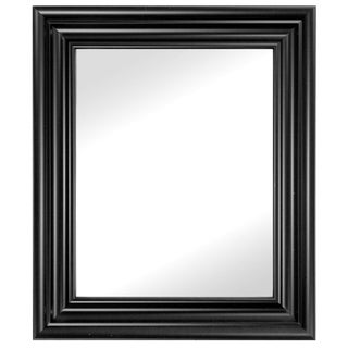 Carriage House 31-Inch x 37-Inch Black Framed Wall Mirror