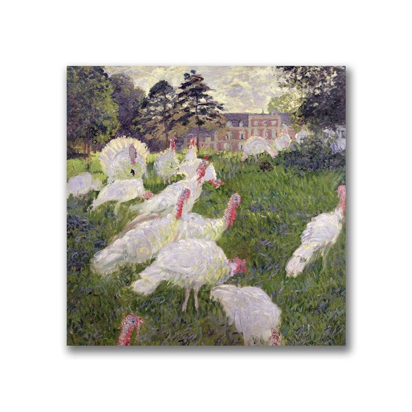 Claude Monet 'The Turkeys at the Chateau' Canvas Art