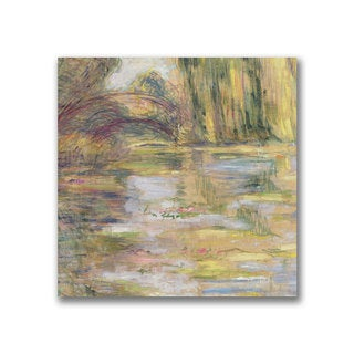 Claude Monet 'Waterlily Pond, The Bridge' Canvas Art