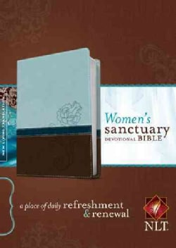 Women's Sanctuary Devotional Bible: New Living Translation, Cool Blue / Chocolate Rose, LeatherLike, A Place of D... (Paperback)