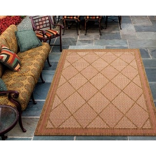Eclipse Glamarous Diamond Terracotta Rug (9'6 x 13')