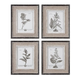 Casual Grey Study Framed Art Set/4
