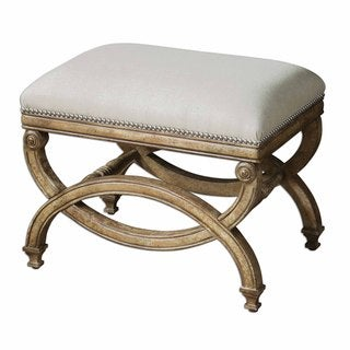 Karline Natural Linen Small Bench