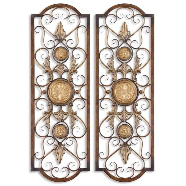 Uttermost Micayla Antique Metal Panels (Set of 2) 10920213