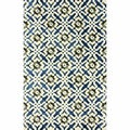nuLOOM Handmade Lattice Blue Faux Silk / Wool Rug (5' x 8')