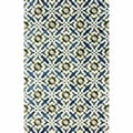 nuLOOM Handmade Lattice Blue Faux Silk / Wool Rug (7'6 x 9'6)